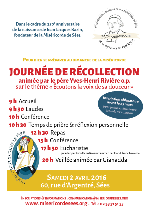 journée récollection 2 avril 2016