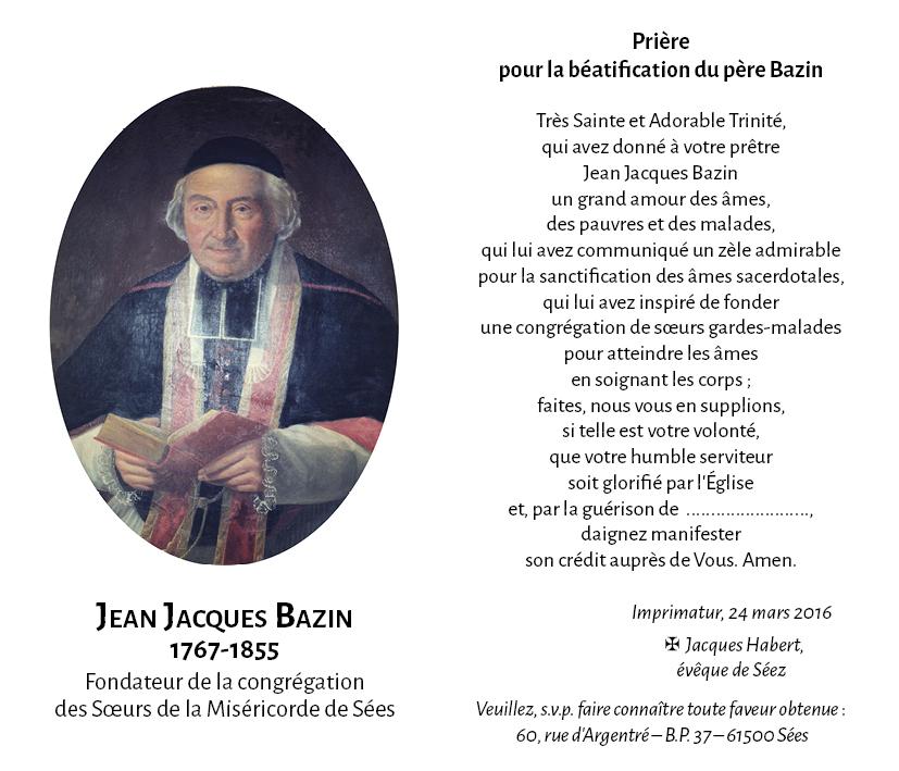 Priere père Bazin avec imprimatur double page